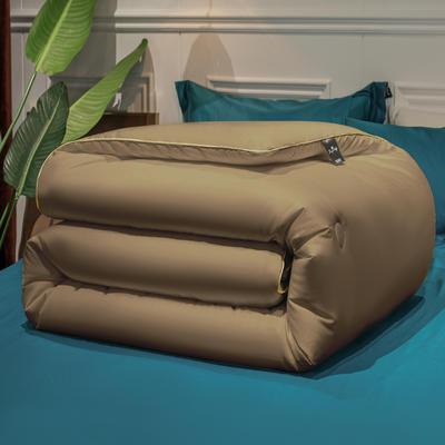 2021新款云柔亲肤大豆纤维被冬被被子被芯 150x200cm4斤 米驼