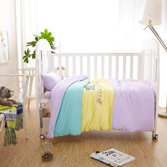 套件-【更新】TD119精典泰迪婴儿床针织五件套组合装 120*150cm 小连星