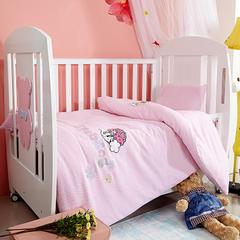 套件-bbd202巴布豆婴儿床彩棉五件套组合装 120*150cm 萌萌