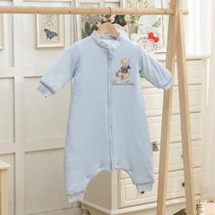 婴童睡袋-精典泰迪系列睡袋-【更新】TD101精典泰迪针织分褪式睡袋 M精典泰迪(蓝)