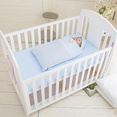 婴童睡袋-精典泰迪系列睡袋-【更新】TD125精典泰迪抱被睡袋(84*44cm) 蓝