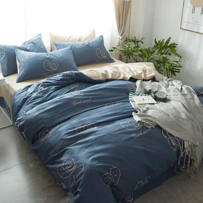 雅居纺全棉-宜家小清新-新花色 小号床单款(1.2m床) 小蜗牛 专版花色