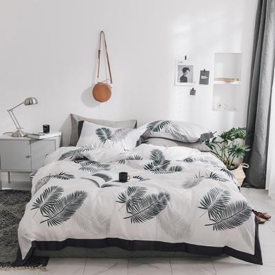 2018新款-宽边工艺款四件套 1.2m(4英尺)床 酒笙