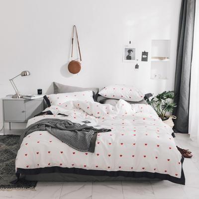 2018新款-宽边工艺款四件套 1.8m(6英尺)床 心瘾
