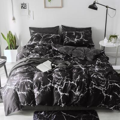 2018新款-棉绒四件套 1.8m(6英尺)床 闪电