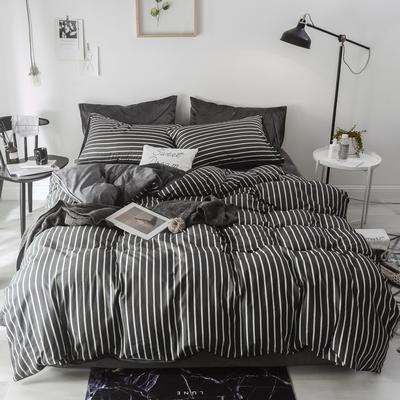 2018新款-棉绒四件套 1.8m(6英尺)床 夜华