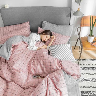 2019新款-条格无印四件套 床单款三件套1.2m(4英尺)床 艾莎800