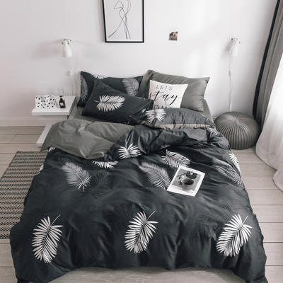 2019新款-条格无印四件套 床单款三件套1.2m(4英尺)床 风华800