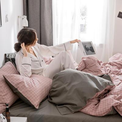 2019新款-条格无印四件套 床单款三件套1.2m(4英尺)床 晴天800