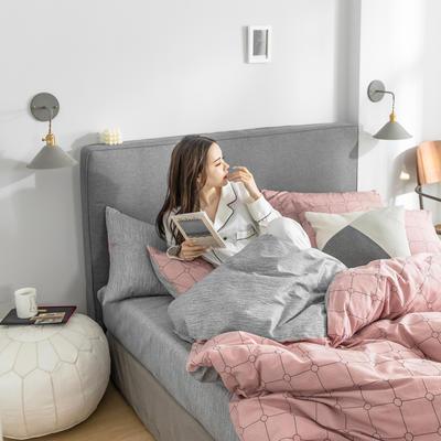 2019新款-条格无印四件套 床单款三件套1.2m(4英尺)床 瑞贝卡800