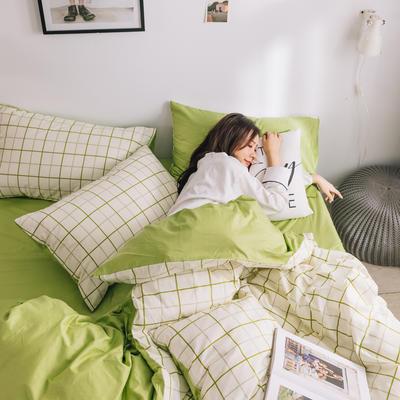 2019新款-条格无印四件套 床单款三件套1.2m(4英尺)床 悉尼800