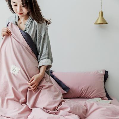 2019新款-工艺款宽边全棉水洗棉四件套 三件套1.2m(4英尺)床 霓裳-豆沙