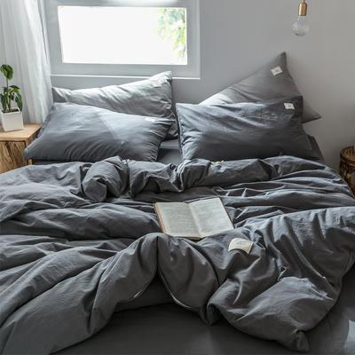 2019新款-全棉水洗棉单品被套 150x200cm 低调灰
