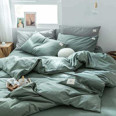 2019新款-全棉水洗棉单品被套 150x200cm 墨子绿