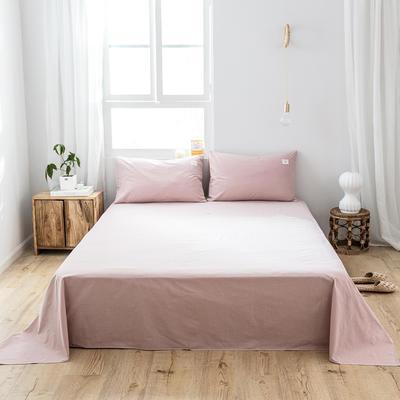 2019新款-全棉水洗棉单品床单 180cmx230cm 绅士红