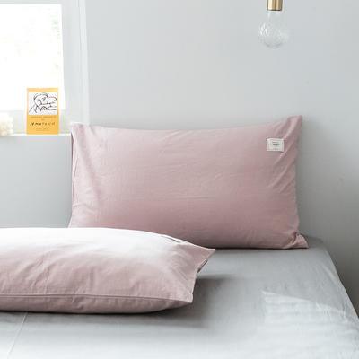 2019新款-全棉水洗棉单品枕套 48cmX74cm/一对 绅士红