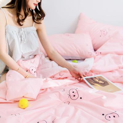 2019新款-全棉夏被 枕套48*74cm 猪宝宝