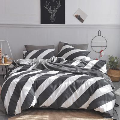 2019新款-小清新全棉四件套 床单款三件套1.2m(4英尺)床 简尚