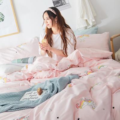 2019新款-小清新全棉四件套 床单款三件套1.2m(4英尺)床 梦幻