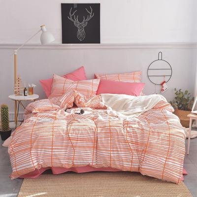 2019新款-小清新全棉四件套 床单款三件套1.2m(4英尺)床 梦境A版