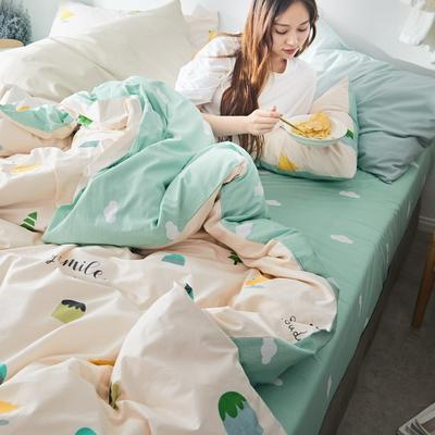 2019新款-小清新全棉四件套 床单款三件套1.2m(4英尺)床 梦想国度