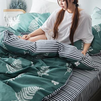 2019新款-小清新全棉四件套 床单款三件套1.2m(4英尺)床 宁静