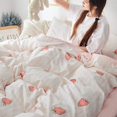 2019新款-小清新全棉四件套 床单款三件套1.2m(4英尺)床 暖夏