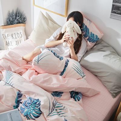 2019新款-小清新全棉四件套 床单款三件套1.2m(4英尺)床 森林系