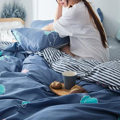 2019新款-小清新全棉四件套 床单款三件套1.2m(4英尺)床 蔬菜沙拉