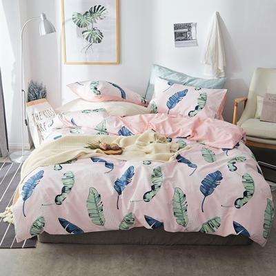 2019新款-小清新全棉四件套 床单款三件套1.2m(4英尺)床 叶语