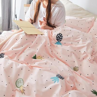 2019新款-小清新全棉四件套 床单款三件套1.2m(4英尺)床 云裳