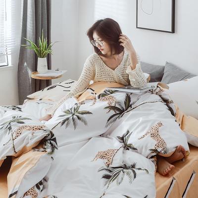 2019新款-小清新四件套 三件套1.2m(4英尺)床 热带雨林
