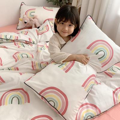 2019新款-嵌绳工艺款四件套(拍摄风格1) 床单款三件套1.2m(4英尺)床 彩虹