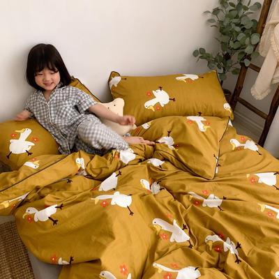 2019新款-嵌绳工艺款四件套(拍摄风格1) 床单款三件套1.2m(4英尺)床 你好鸭