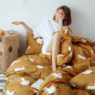 2019新款-嵌繩工藝款四件套(拍攝風格2) 床單款三件套1.2m(4英尺)床 你好鴨