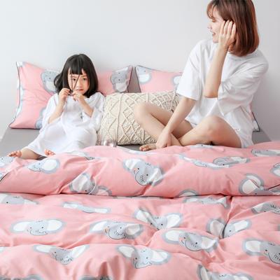 2019新款-嵌绳工艺款四件套(拍摄风格2) 床单款三件套1.2m(4英尺)床 网红象