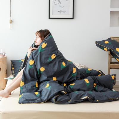 2019新款-嵌繩工藝款四件套(拍攝風格2) 床單款三件套1.2m(4英尺)床 小黃花