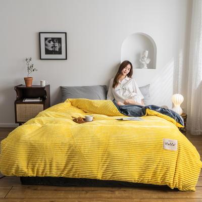 2019新款-魔法绒单被套 150x200cm 亮黄