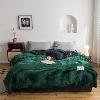 2019新款-魔法绒单被套 150x200cm 墨绿