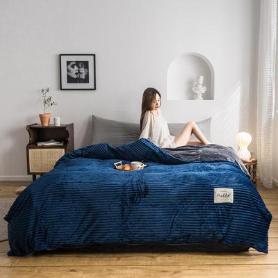2019新款-魔法绒单被套 150x200cm 深蓝
