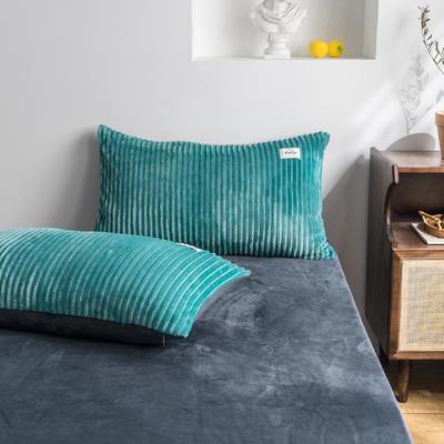 2019新款-魔法绒单枕套 48cmX74cm 松石绿