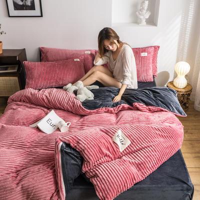 2019新款-魔法绒四件套 床单款三件套1.2m(4英尺)床 豆沙
