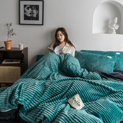 2019新款-魔法绒四件套 床单款三件套1.2m(4英尺)床 松石绿