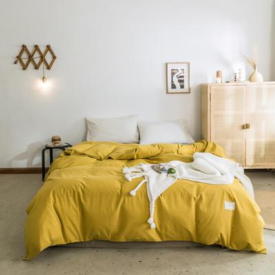 2019新款-全棉水洗棉单被套 150x200cm 绅士黄