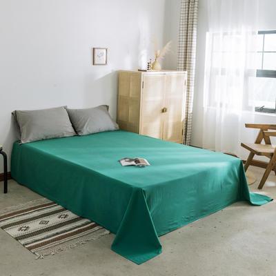 2019新款-全棉水洗棉单床单 120cmx230cm 翠绿
