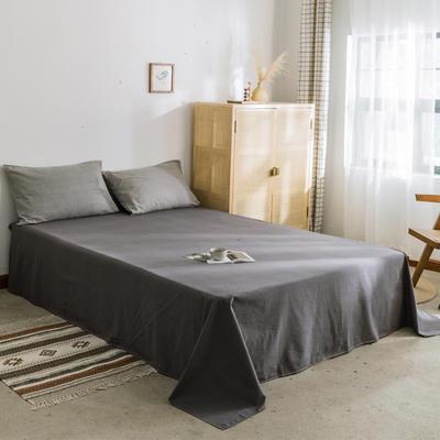 2019新款-全棉水洗棉单床单 120cmx230cm 低调灰