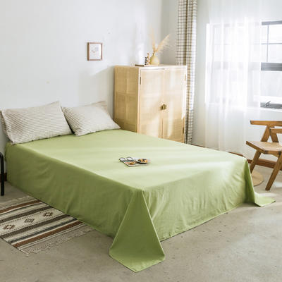 2019新款-全棉水洗棉单床单 120cmx230cm 果绿