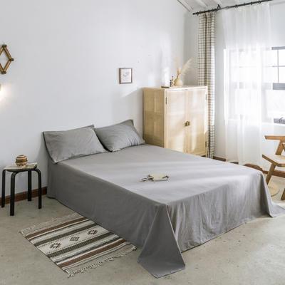 2019新款-全棉水洗棉单床单 120cmx230cm 绅士灰