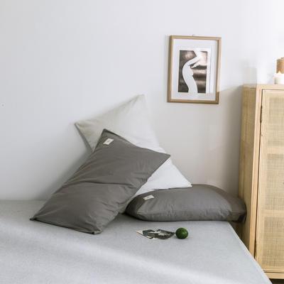 2019新款-全棉水洗棉单枕套 48cmX74cm 绅士灰