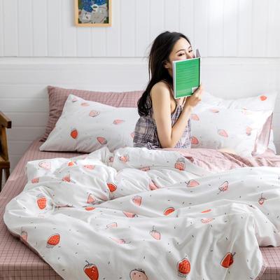 2019新款-小清新四件套 三件套1.2m(4英尺)床 温馨